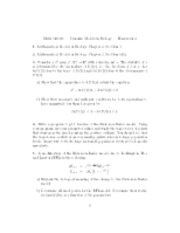 dynamic models in biology solutions manual