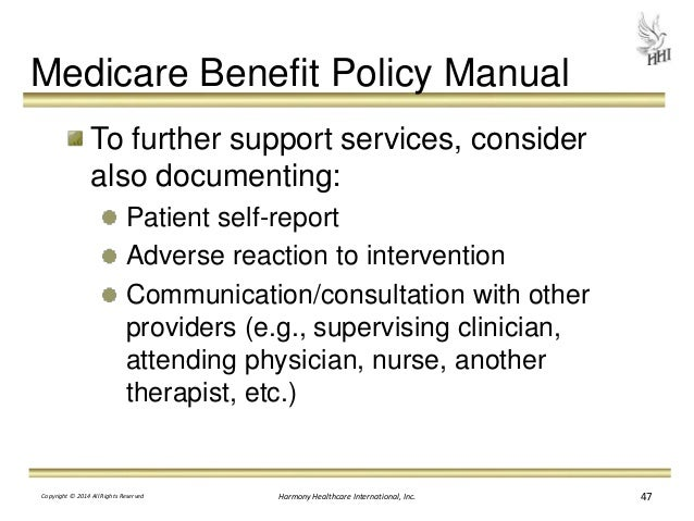 medicare part b benefit policy manual